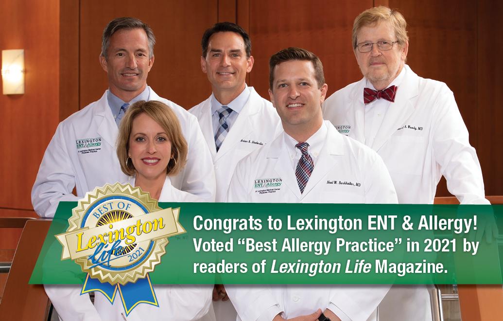 Best Allergy Practice 2021 in Lexington Life Magazine